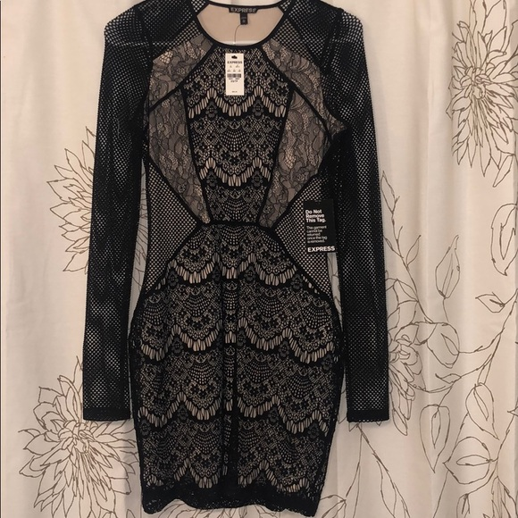 4c011032ef8 Brand new Black lace dress from Express! NWT